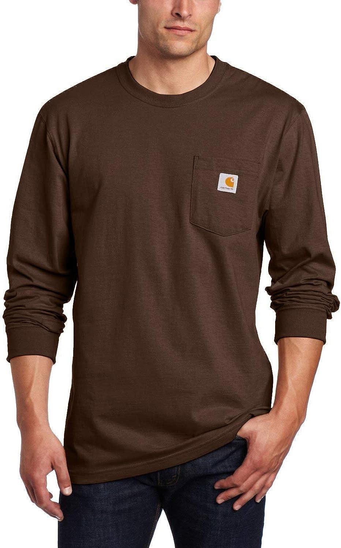Carhartt Men's Workwear Jersey Pocket Long-Sleeve Shirt K126 (Regular and Big & Tall Sizes)