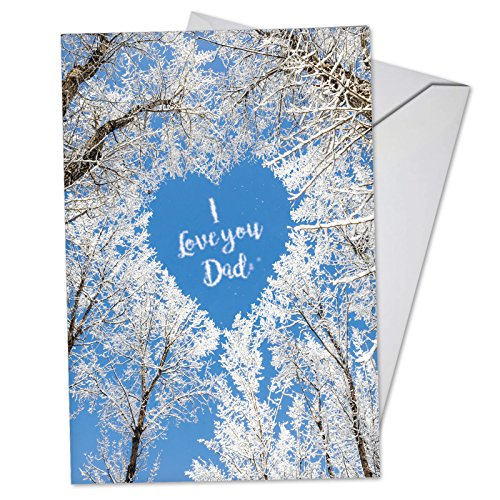 C3507FDG Sky Heart-Dad: Humorous Father's Day Card, with -