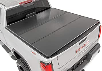 Amazon Com Rough Country Hard Tri Fold Fits 2014 2018 Chevy Silverado Gmc Sierra 5 8 Ft Bed Truck Tonneau Cover 45214550 Rough Country Automotive
