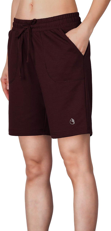 icyzone AthleticRunning Yoga Shorts for Women - Women's Workout Active Lounge Bermuda Shorts with Pockets: Clothing