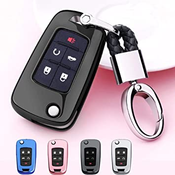 For Chevrolet Camaro Cruze Equinox Malibu 5 Button Key Case Shell Holder Bag Box