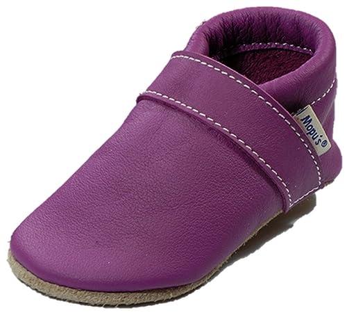 elegante Schuhe billiger exzellente Qualität Mopus Krabbelschuhe - Lederpuschen in Uni Fuchsia ...