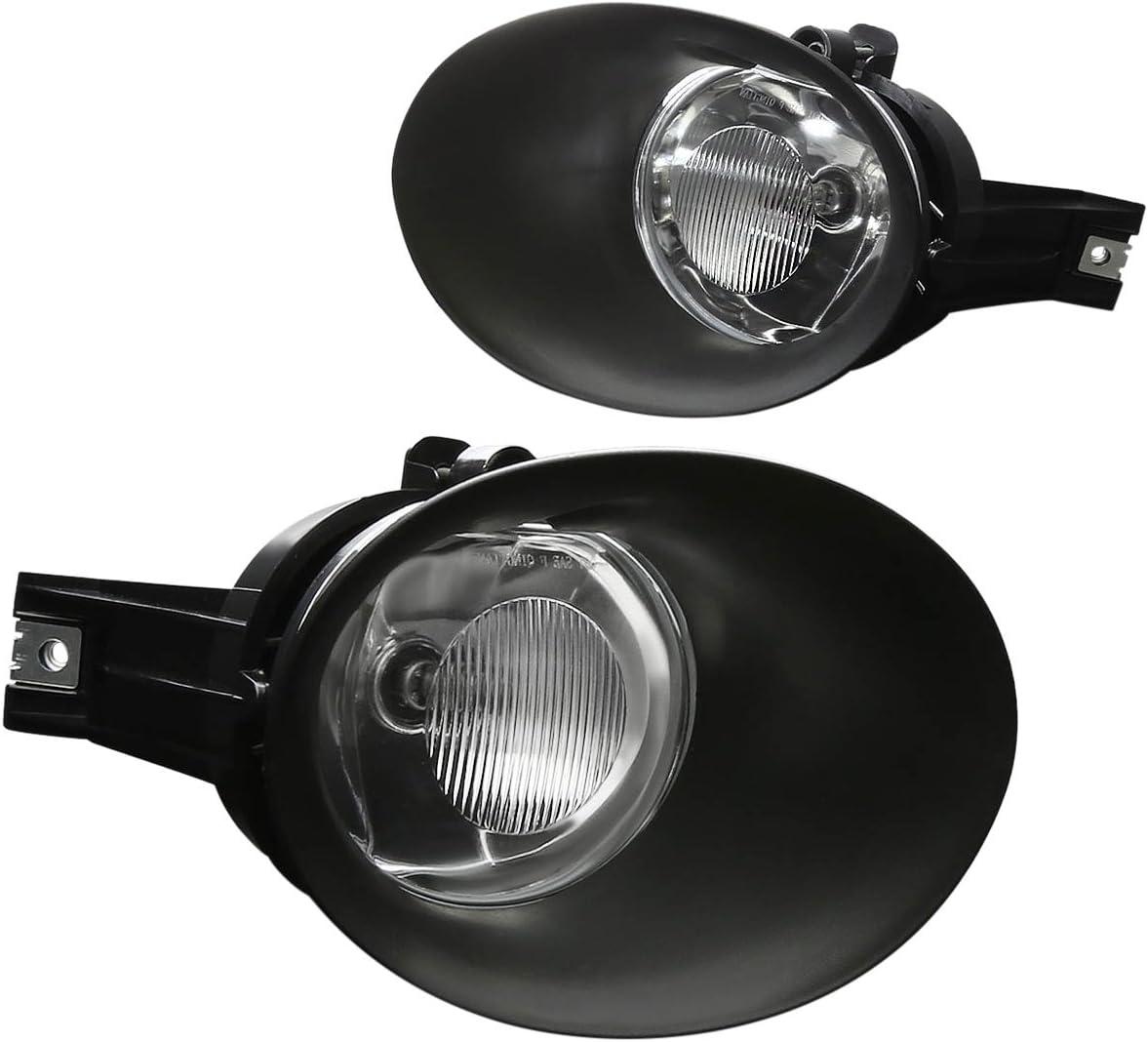 DNA Motoring FL-ZTL-287-CH Front Bumper High Power LED Fog Light Lamp Set w//Bezel Cover+Switch,Clear Lens