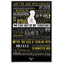 Posters: Breaking Bad Poster - Stay Out Of My Territory, Quotes (36 x 24 inches)