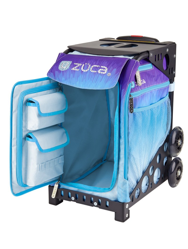 Zuca Ice Dreamz Sport Insert Bag and Navy Blue Frame with Flashing Wheels by ZUCA (Image #2)