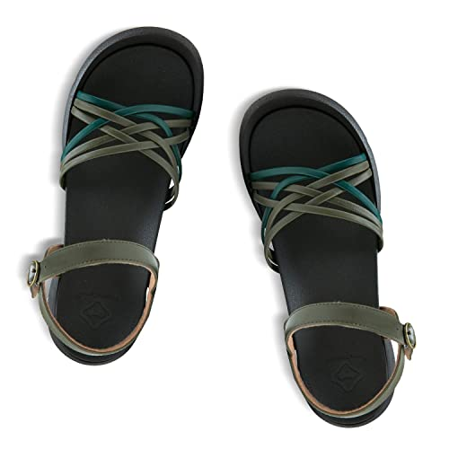 01731b4f14ae6 RegettaCanoe Sandals for Women Oxalis Black Sandals, Women's Shoes for  Casual and Smart Casual Wear, Summer Sandals for Orthotic and Supportive  Wear