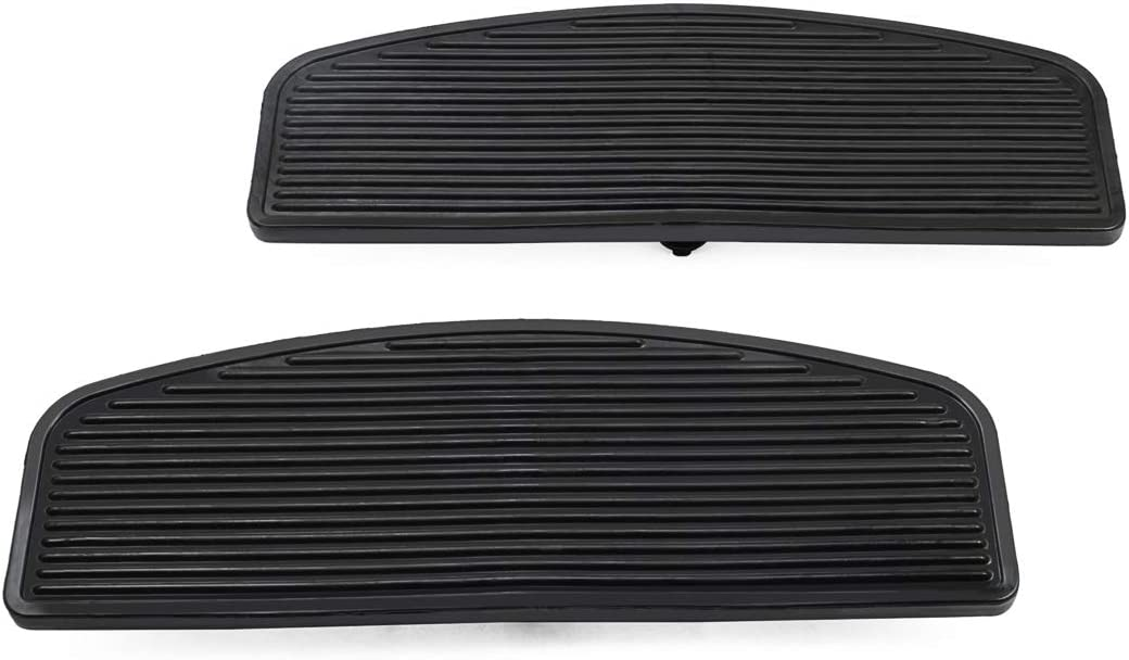 PBYMT Front Rubber Rider Insert Footboard Floorboard Foot Peg Footrest Pad Compatible for Harley Touring Softail Road King Electra Glide 1986-2020