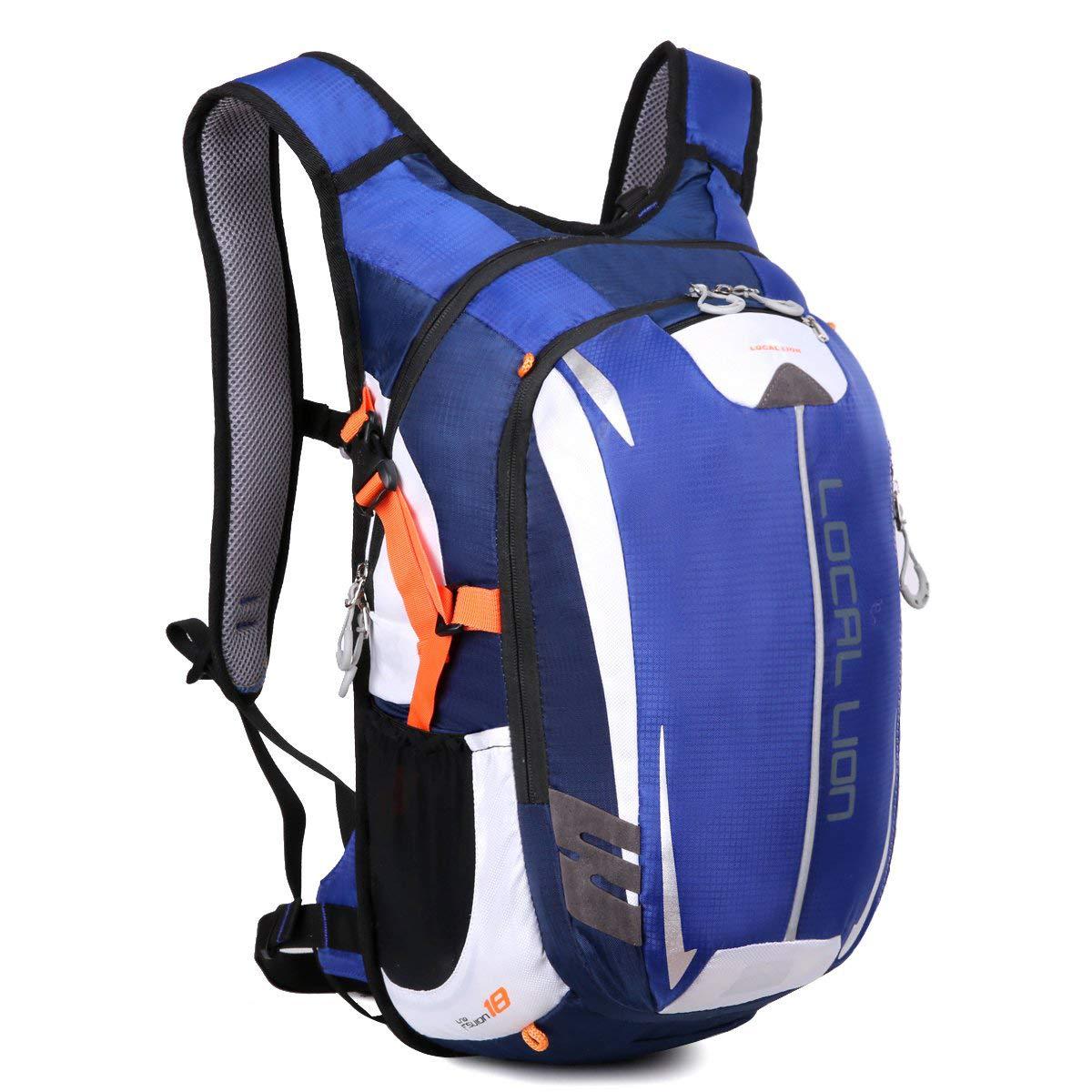 LOCAL LION Fahrradrucksack Trinkrucksack Reiserucksack Sportrucksack Tagesrucksack Alltags Daypacks Backpack Outdoor Ultraleicht Unisex 18L