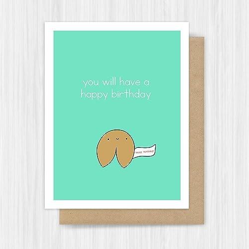 Birthday Card Funny Food Pun Handmade Greeting