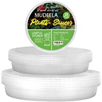 18 Pack of 6 inch & 8 inch & 10 inch Plant Saucers, Durable Plant Trays for Indoors Outdoors, Clear Plastic Flower Plant Pot Saucer, Made of Thicker, Stronger Plastic, with Taller Design (6