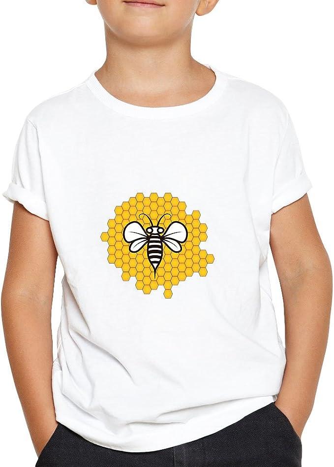 OKAPY Camiseta Honey Panal. Una Camiseta de Niño con Una ...