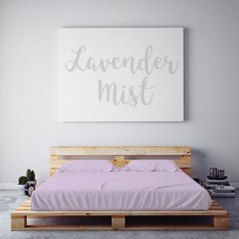 PeachSkinSheets Night Sweats: The Original Moisture Wicking, 1500tc Soft Queen Sheet Set Lavender Mist
