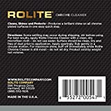 Rolite Chrome Cleaner (4.5oz) for All Chrome Plated Surfaces. Motorcycles, Automobiles, Boats, RVs, Bumpers and Much More