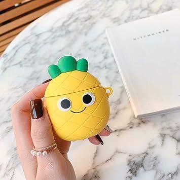 AirPods Funda con Llavero, 3D Cute Cartoon Silicona Fruits ...
