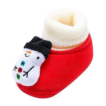 3d2a9f5708455 Chaussures Premiers Pas BéBé Fille Garçon Chaussettes de Noël Doux Souple  Princesse