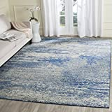 Cheap Safavieh Evoke Collection EVK272A Distressed Modern Abstract Navy Ivory Area Rug (8′ x 10′)
