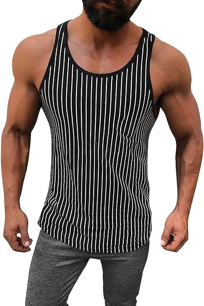 Men/'s Sleeveless Bodybuilding Muscle Gym Tank Vest Slim Training Casual Tee Tops