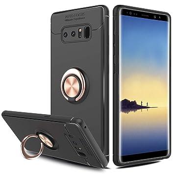 SORAKA Funda para Samsung Galaxy Note 8, rotación de 360 Grados, Carcasa de TPU Delgada, imán a Prueba de Golpes, Funda para Soporte de Coche para ...