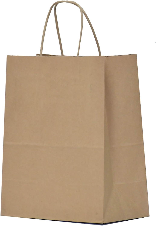 Paper Bags Gift Bags 18x8x22cm Kraft Paper White or Brown flachhenkel Bags