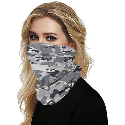 Simayixx Men Women's Turban Scarf Bicycle Neck Tube Bandana Face Protection Dust Casual Headwear Seamless Neck Gaiter (F, Free Size): Clothing