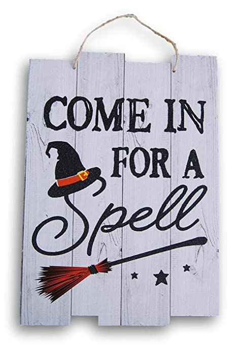 Amazon.com: Spooky Town - Cartel decorativo con purpurina ...