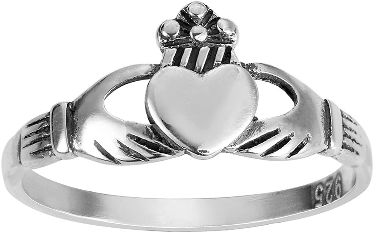 CloseoutWarehouse Sterling Silver Key to My Heart Ring