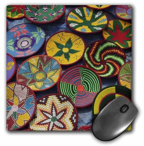 3dRose LLC 8 x 8 x 0.25 Inches Mouse Pad, Ethiopia: Tigray, Axum, Woven Baskets, Market-Af16 Ajn0250 - Alison Jones (mp_73334_1)