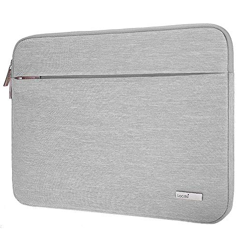 Lacdo 13 Inch Laptop Sleeve Case Compatible 13.3 Old MacBook Air | 13 MacBook Pro Retina 2012-2015 | 12.9 Inch iPad Pro | Surface Book 2 | Dell HP ASUS Samsung Lenovo Chromebook Notebook Bag, Gray