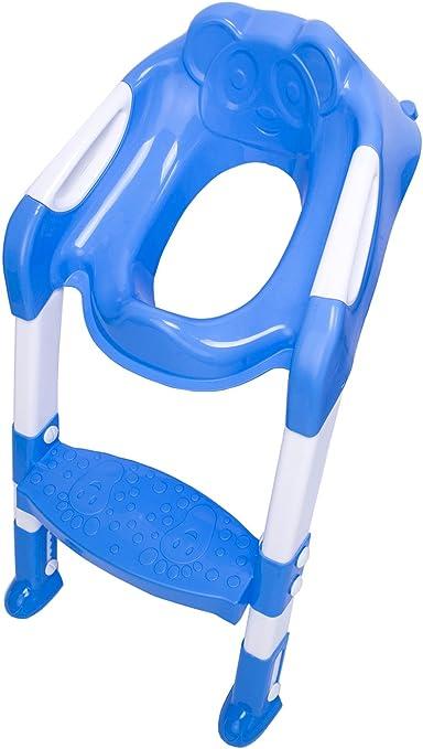 DoubleBlack Bebé Niños Orinal Formación Aseo Escalera Asiento Adaptador Azul: Amazon.es: Bebé
