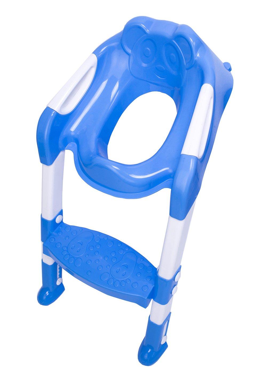 DoubleBlack Reducteur WC Enfant Avec Marche Réducteur Toilette Escalier Bleu