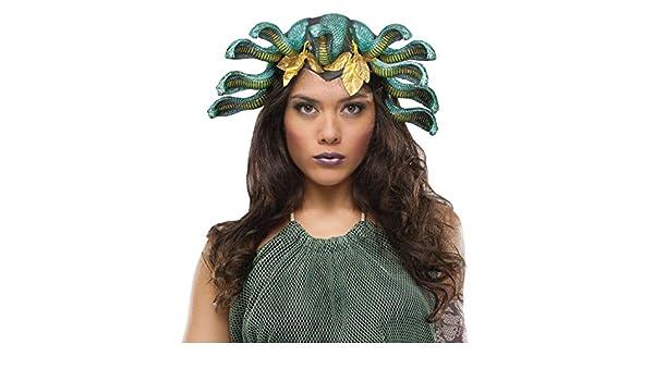 Medusa cabeza serpiente para mujer peluca disfraz sombrero adulto mitología griega: Amazon.es: Hogar