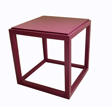 Roundhill Furniture Wood Stackable Display Cube Shelves Stands/Side Table,  Lavender
