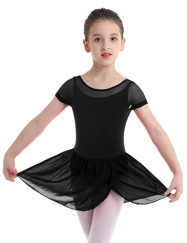 YiZYiF Vestido Danza Clásica Niñas Maillot Ballet Tutú Vestido ...