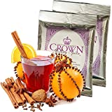 Mulling Spices Instant Gourmet Mix | Crown Mulling for Apple Cider Wine Juice Tea Cake Bread Cookies | Free Recipe Booklet Included | Thanksgiving Stocking Stuffers Christmas Gift 6 Oz (TwoPack)