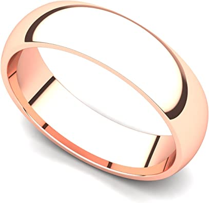 5 mm wide open shiny rose gold sterling silver ring
