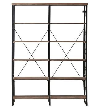 O&K Double Wide 6-shelf Bookshelf