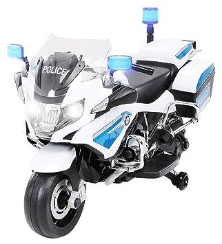 PEQUENENES Moto ELÉCTRICA para NIÑOS BMW R1200 POLICIA 12V: Amazon.es: Juguetes y juegos