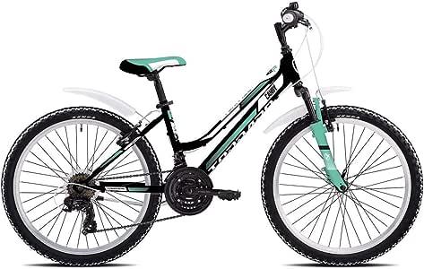 TORPADO - Bicicleta de montaña Infantil Candy de 24 Pulgadas, 3 x 6 V, Color Verde: Amazon.es: Deportes y aire libre