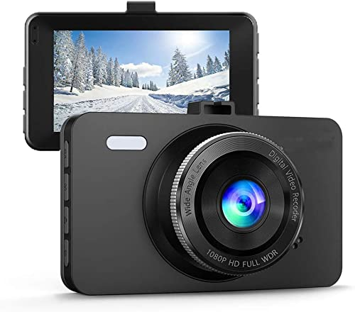 Dash Cam,150 Wide Angle Full HD 1080P with 3.0 LCD,G-Sensor,Night Vision,WDR,Loop Recording Dashboard Camera Recorder