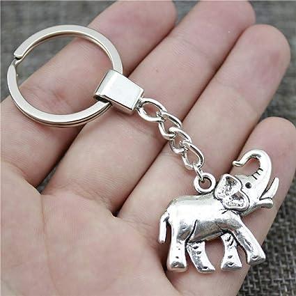 Amazon.com: Eaglers Llavero Metal 33x30mm Elephant Keychain ...