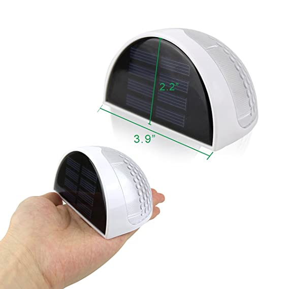 ... Solar lámpara de pared Fácil de Instalar para cualquier Casa Jardin Cerca Garaje Cobertizo Pasarelas las Escaleras: Amazon.es: Jardín