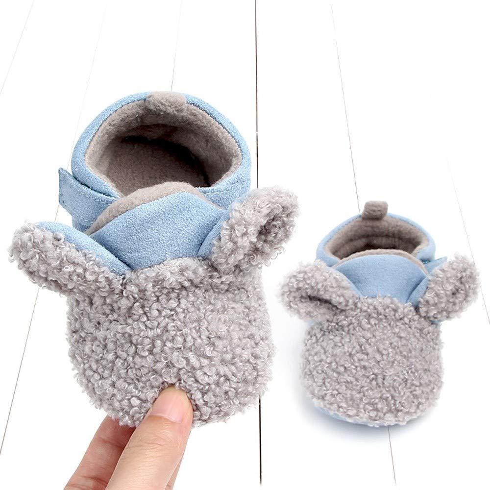 Zapatos de bebé Zolimx Zapatos de Cuero de La PU del Bowknot de La Niña Zapatos Antideslizantes para Niños Pequeños Zapatilla para 0-6 6-12 12-18 Mes: ...