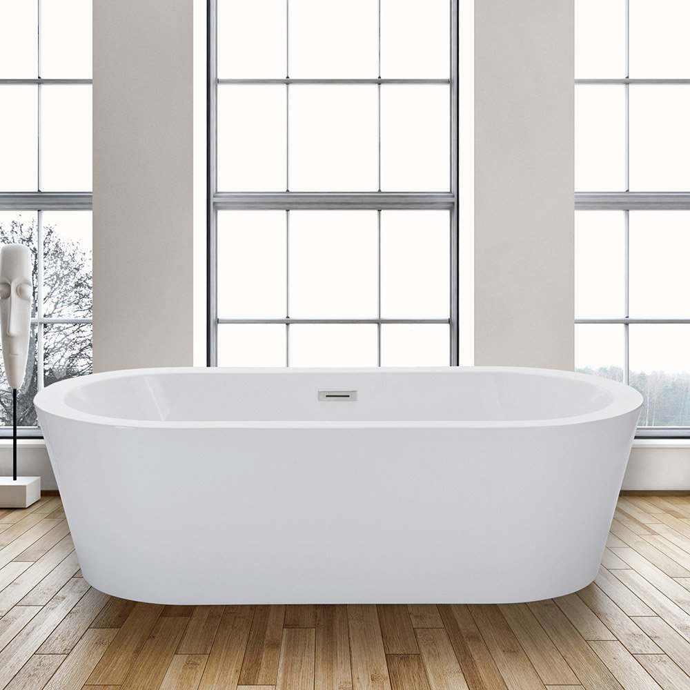 WOODBRIDGE 59 Acrylic Freestanding Bathtub Contemporary Soaking