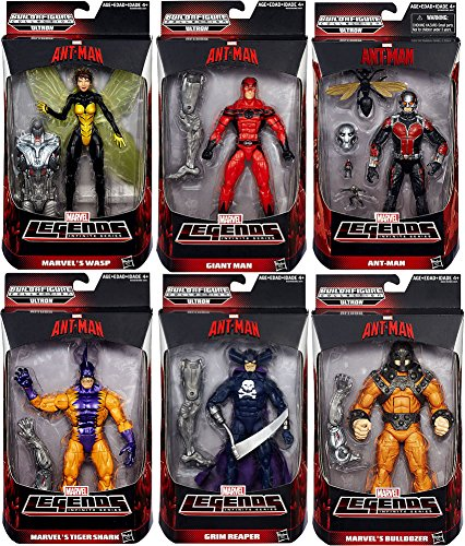Ant-man Marvel Legends Giant Man, Grim Reaper, Wasp, Bulldozer, Ant Man, Tigershark Action Figures Wave 1 Set of 6