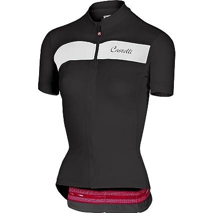 fbac66119 Amazon.com   Castelli 2018 Women s Scheggia Full Zip Short Sleeve ...
