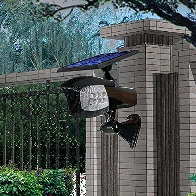 GMFive Super Bright 8 LED 400Lm 2 in 1 Installation Solar Powered Outdoor Garden Spotlight/Landscape Lawn Light/Pathway Light/Night Light,Etc