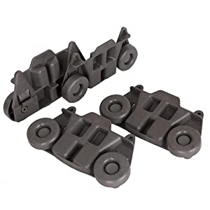 4 PCS W10195416V Durable Dishwasher Wheel/Dishwasher Lower Rack for Whirlpool, Kenmore, Maytag, KitchenAid, Jenn-Air, Amana- AP5983730, PS11722152, W10195416