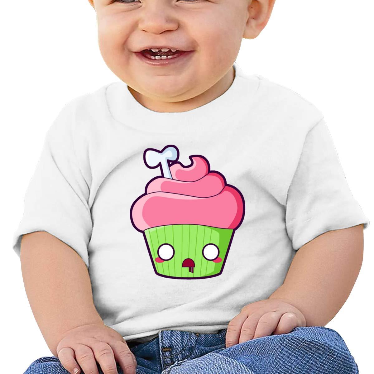 Qiop Nee Comical Bone Cupcake Short-Sleeves T Shirt Baby Girl