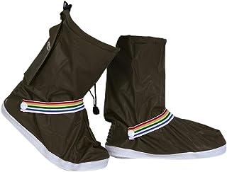 Broadroot Housse de pluie pour chaussures Portable étanche à chaussures couvertures (café)