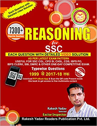 Reasoning Book For Ssc